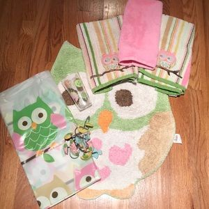 Kids Owl Bathroom set